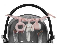 Little Dutch Kinderwagen-Kette Hase, Adventure Pink