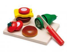 Erzi® Kaufladen / Küchen Sortiment Cheeseburger
