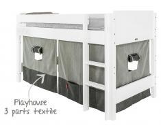 Bopita Spielhaus Vorhang für Halbhochbett, Morning Grey / Night Grey