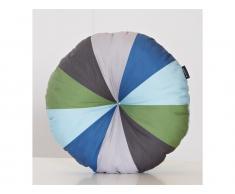 Rundes Dekokissen von Manis-h 50cm Grün/Blau