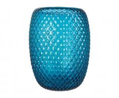 Canett Vase Optic Blau Höhe 19,5cm