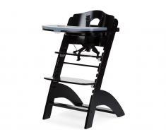 Treppenhochstuhl mit Gurt, Bügel und Tisch, Lambda 2, Buche Schwarz, Childhome