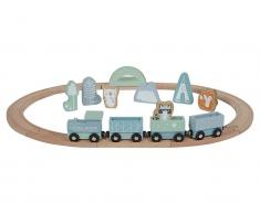 Little Dutch Holz Eisenbahn mit Schienen, Adventure Blue