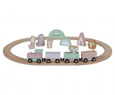 Little Dutch Holz Eisenbahn mit Schienen, Adventure Pink