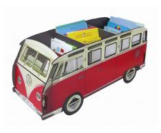 Bücher Bus VW T1 Rot Länge 81cm, Aufbewahrungskiste