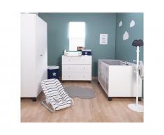 Babyzimmer 3-teilig, Bett, Schrank, Wickelkommode, Union Marin, Childhome