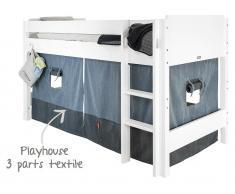 Bopita Spielhaus Vorhang für Halbhochbett, Denim Blue / Navy Blue