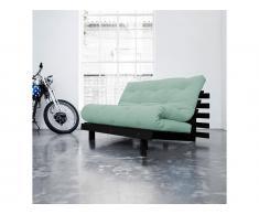 Futon Sofa Karup ROOTS Gestell Schwarz In neuen Pastell Farben erhältlich, Peppermint (L50)