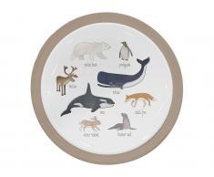 Sebra® Melamin-Teller Arctic Animals Ø21,5cm