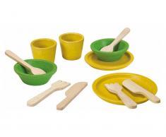 PlanToys Geschirrset Gelb/Grün