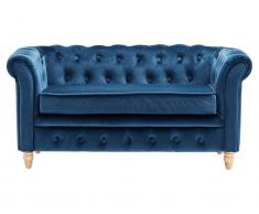Kids Concept Kindersofa Chesterfield Samt Blau