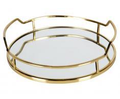 Tablett goldfarbig lackiert, Luxurious BePureHome