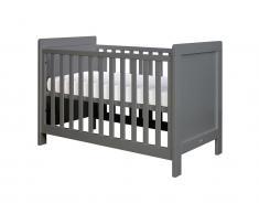 Babybett Sven Deep Grey, 60x120cm inkl. Lattenrost höhenverstellbar, Bopita