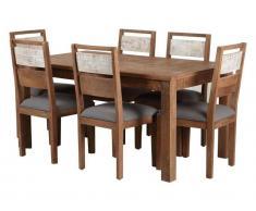 TheWoodTimes Esstisch Mango Holz New Rustic, 180x90 cm