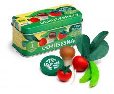 Erzi® Kaufladen / Küchen Sortiment Gemüsesnack in der Dose