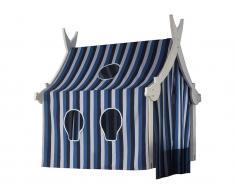 Holzturm Weiß mit Textilien für Piraten-Spielbett, Dolphin *B-Ware* inklusive Textilien