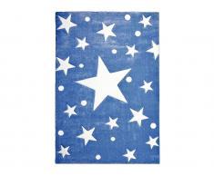 Teppich STARS Navy/Weiß, 160x230cm, Happy Rugs Livone