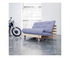 Futon Sofa Karup ROOTS Gestell Natur unbehandelt In neuen Pastell Farben erhältlich, Blue Breeze (L51)