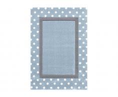 Teppich POINT Blau/Silbergrau, 160x230cm, Happy Rugs Livone