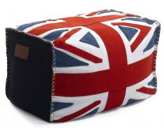 Lazy Life Paris Bel Air Pouf Hocker, UK Flag