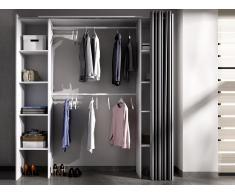 Kleiderschrank Kleiderschranksystem DORIAN - Weiß & Grau