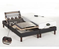 Matratzen elektrischer Lattenrost 2er-Set mit Motor Thesee - 2x80x200cm