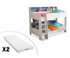 PARISOT Sparset Tam-Tam: Kinderbett Blau in 90x200cm + 2 Matratzen (3-tlg.)