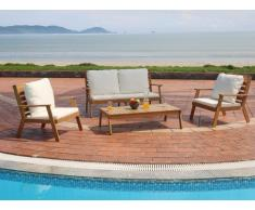 Garten Sitzgruppe SINTRA - Akazie: 2-Sitzer-Sofa, 2 Sessel & Beistelltisch