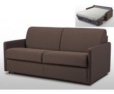 Schlafsofa 3-Sitzer Stoff mit Matratze Calife - Braun - Liegefläche: 140 cm