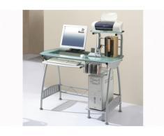 Computertisch Schreibtisch Glas Stahl Polaris