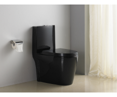 Stand-WC Keramik Spülkasten & Soft Close Automatik DAIKI II - Schwarz