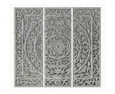 Bild 3-teilig Triptychon RELIEF - Holz - 40x120 cm