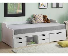 Bett mit Stauraum ADELISE - 90 x 190 cm - Weiß