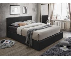 Polsterbett mit Bettkasten TREMPLIN II - 180x200cm - Schwarz