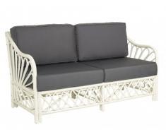 2-Sitzer Sofa Stoff Rattan MILENA