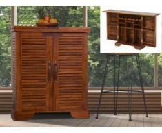 Hausbar Holz Tarakan - Teak massiv
