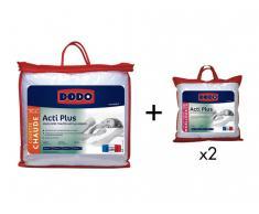 Sparset DODO: Bettdecke 240 x 260 cm + 2 Kopfkissen antiallergen ACTI PLUS II 65 x 65 cm
