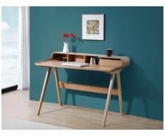 Schreibtisch Sekretär Holz Loki - Naturfarben