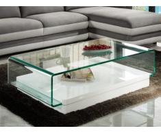 Couchtisch Hochglanz Glas Design Gloss - Weiß