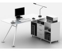 Computertisch Eckschreibtisch ALCEME mit Seitenschrank