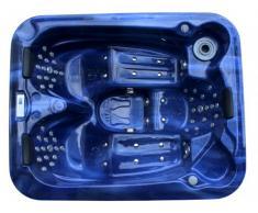 LED-Whirlpool Spa Fidji II - 3 Plätze - Blau