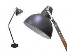 Stehlampe Metall & Holz PIXELIS - Höhe: 185 cm - Schwarz