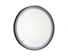 Spiegel mit LED-Beleuchtung NUMEA - B 60 x H 60 cm - Schwarz