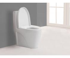 Stand-WC Keramik Spülkasten & Soft Close Automatik DAIKI II - Weiß