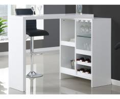 Bartisch ausziehbar FIZZ II - MDF lackiert - Weiß