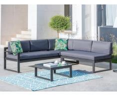 Lounge Sitzgruppe Aluminium PALAOS - Anthrazit