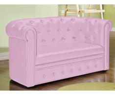 Chesterfield Kindersofa Tiana - Rosa