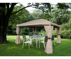 Garten Pavillon Segeltuch BAREINA - B 295 x T 395 x H 270 cm