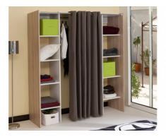 Kleiderschrank Kleiderschranksystem Emeric - Dunkelbeige & Taupe