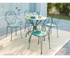 Garten Essgruppe GUERMANTES - Tisch & 4 Sessel - Grün